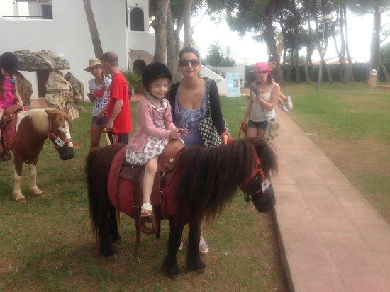 Talayot: Pony ride at apartments