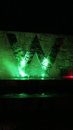 W Retreat & Spa Bali - Seminyak: W sign @night