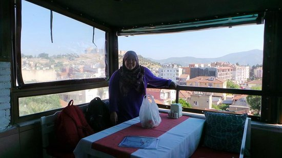 Urkmez Hotel: The view from the cozy dining area