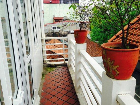 Hanoi Moment Hotel : Balkon