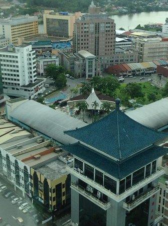 Pullman Kuching: looking down on 'Top Spot'