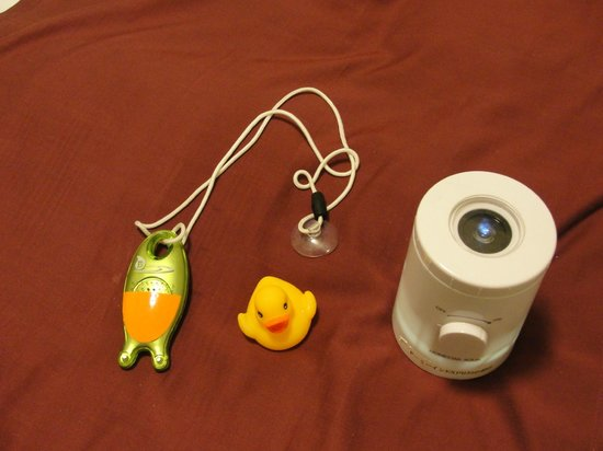 Dormy Inn Express Matsue: Rubber Duck, water height alarm and Star Projector.