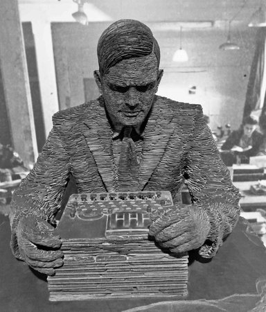 Statue of Alan Turing, Bletchley Park