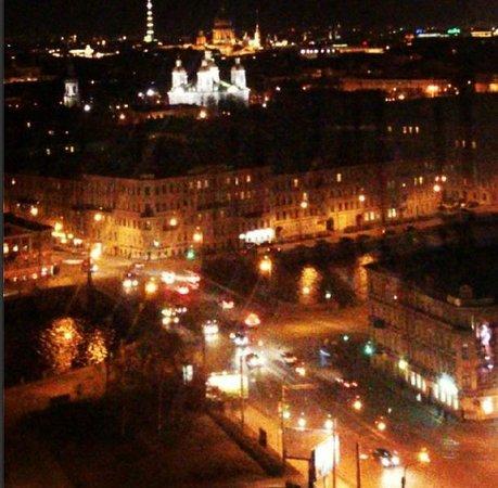 AZIMUT Hotel Saint Petersburg: Вид из Sky Bar
