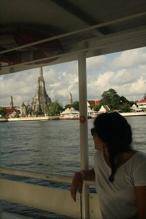 Wat Arun (Tempel der Morgenröte): traghetto tha tien pier-wat arun