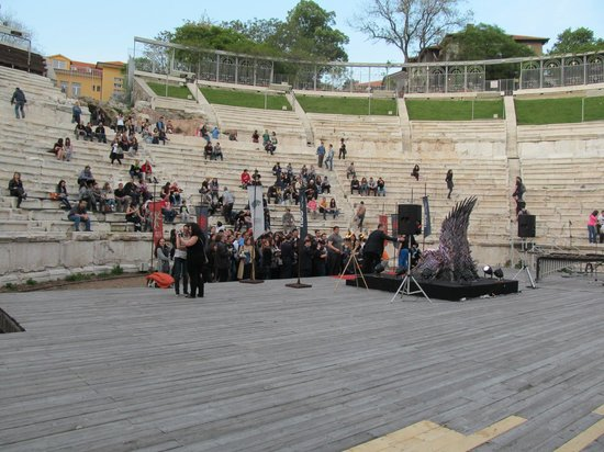Plovdiv Roman Theatre : The Roman Theater from the stage.