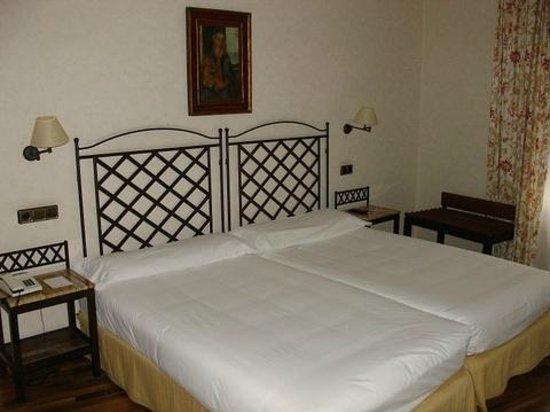 Hotel Palacio de Valderrabanos: Dos camas muy grandes