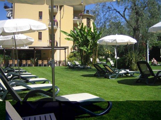 Hotel Benacus Malcesine: Pool area