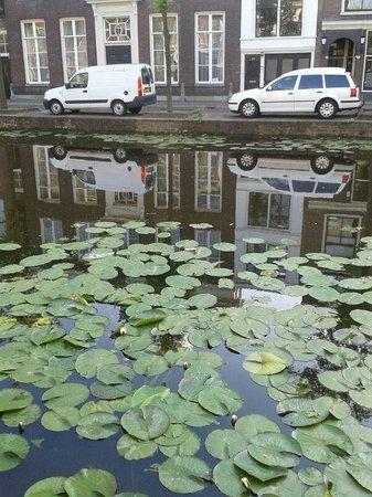 Hotel Leeuwenbrug : Канал Koornmarkt