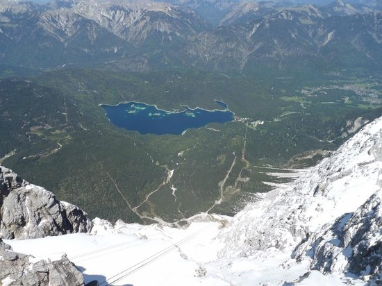 Zugspitze: Eibsee from the Summit