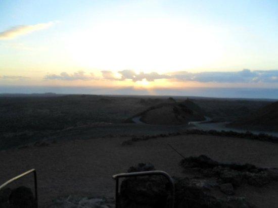 Raven's Volcano: the sunset from the restaurant