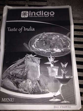 Indigo Indian Asian Restaurant : Menu p1