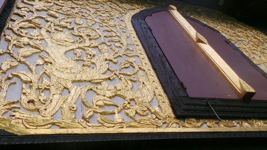 Suan Pakkad Palace Museum: Detail of the lacquer Pavilion