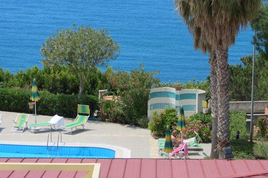Hotel Residence Sciaron: Utsikt från hotellrummet