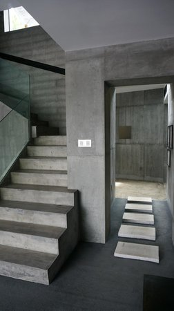 A Myrica Village: stairs up to the room