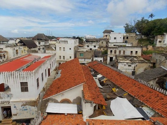 Lamu Old Town : Fish market aerial view