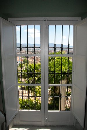 Carmen de la Alcubilla del Caracol: Window view from the library