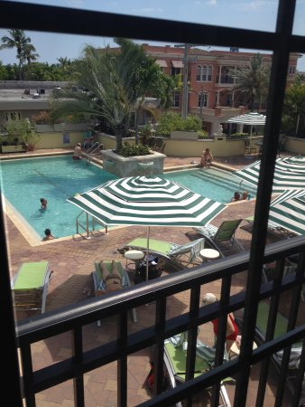 Inn on Fifth: view of pool from 359