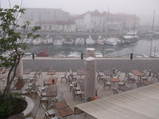 I loved the view of the early morning mist from my room at Hotel du Port!