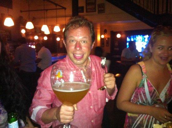 Belgian Beer Cafe Dubai Festival City : Large Beer at Belgian Beer Cafe