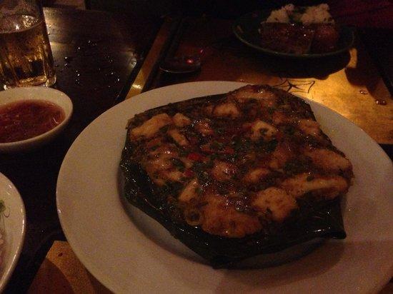 Morning Glory Restaurant: Mackerel in banana leaf - yum