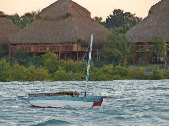 Beach chalets: View from the sea