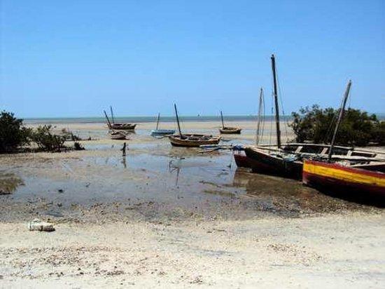 Beach chalets: Low tide Beach area