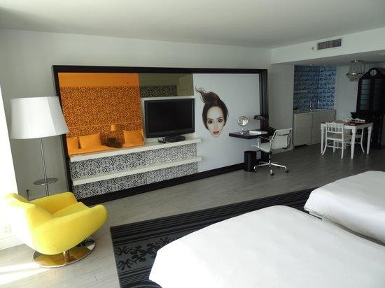Mondrian South Beach Hotel: Chambre King vue baie