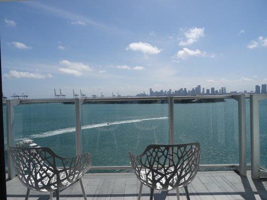 Mondrian South Beach Hotel: Vue du balcon