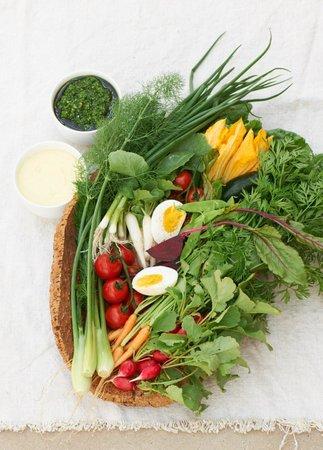 Daylesford Cafe: Seasonal, fresh vegetables from our market garden