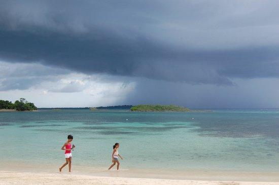 Half Moon Beach: Intermittent Rain