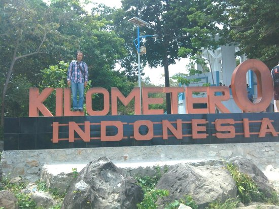 Sabang, อินโดนีเซีย: Photo saat di titik nol kilometer Indonesia