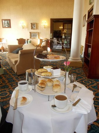 The Imperial Hotel: high tea in Library