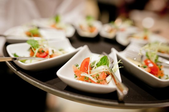 Restaurant Herzstück Salzburg: Fingerfood bei der Eröffnung