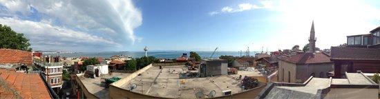 Hotel Sphendon: Vista sul mare dalla terrazza