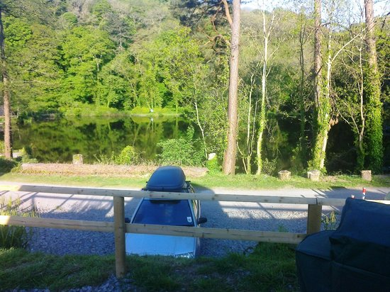 Mill Park Touring Caravan & Camping Park : View from terrace of Glampod
