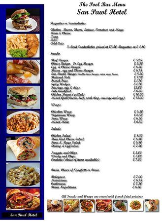 San Pawl Hotel: Our BBQ Menu