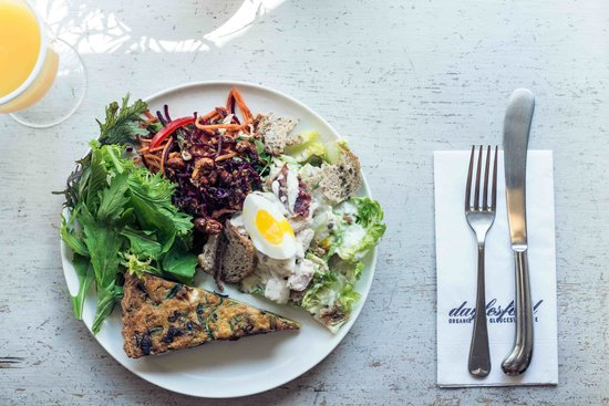 Daylesford Organic Cafe: A selection of our deli salads and quiche
