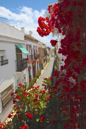 La Villa Marbella: Balcony with red bougainvillaeas