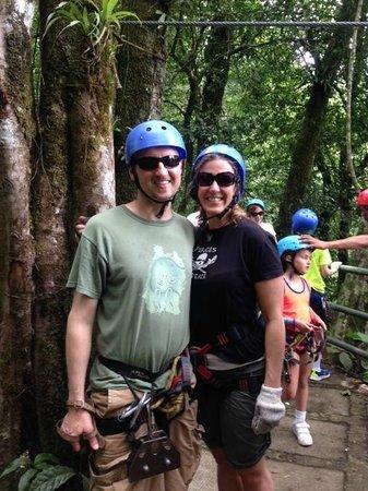Arenal Mundo Aventura: Liz and Jamey