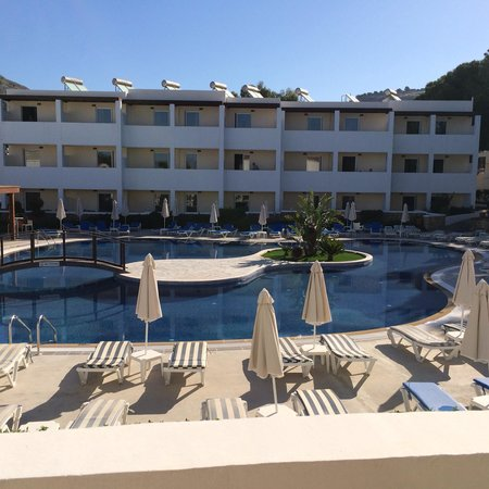 Matina Pefkos Aparthotel: Balcony view