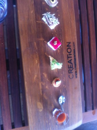 Creation Wines : Food and wine pairing
