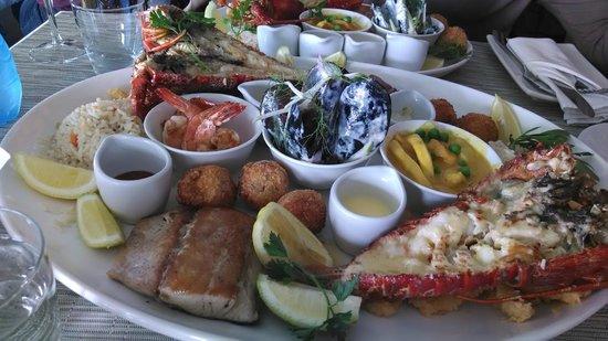 Two Oceans Restaurant: prato de frutos do mar