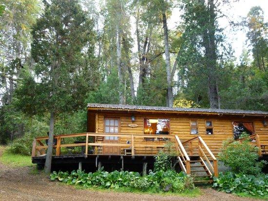 Cabañas Cumelen: la entrada a la cabaña