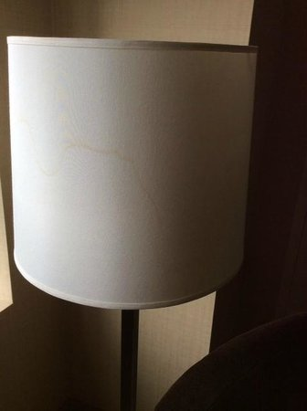 The Saratoga Hilton: 1 of 3 broken or stained lamp shades