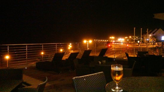 Town Lodge Port Elizabeth: View from the pool deck at night.