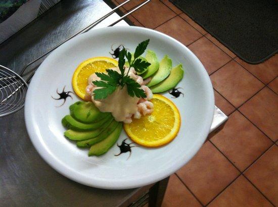 Da Vinci Italian Restaruant: Avocado e gamberetti