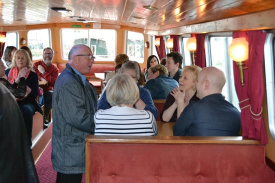 Skipton Boat Trips: Looking down the cabin