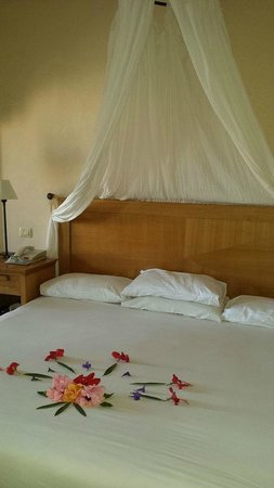The Makadi Palace Hotel: our very comfy bed