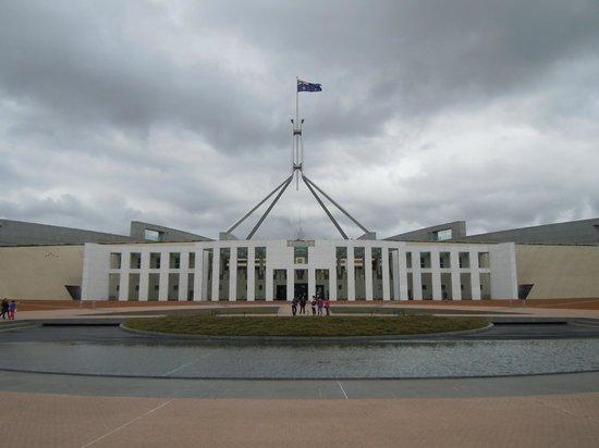 Australian Parliament House: Main entrance